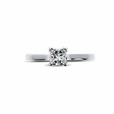 Princess Cut Engagement Ring 0.34ct GVS1 GIA